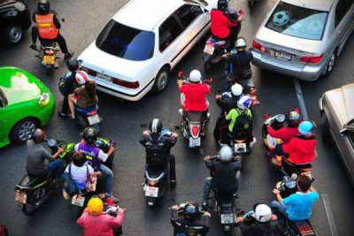 The right of way is fiercely contested in Thailand